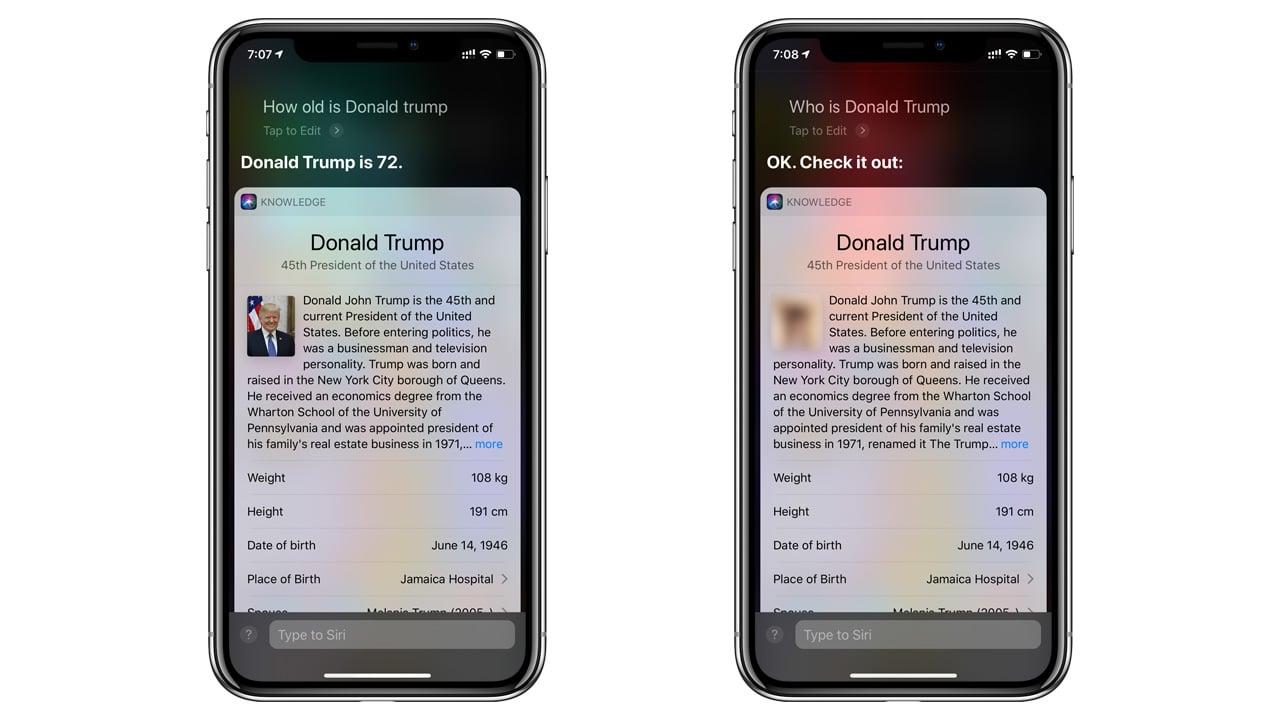 Hey Siri Who is Donald Trump?